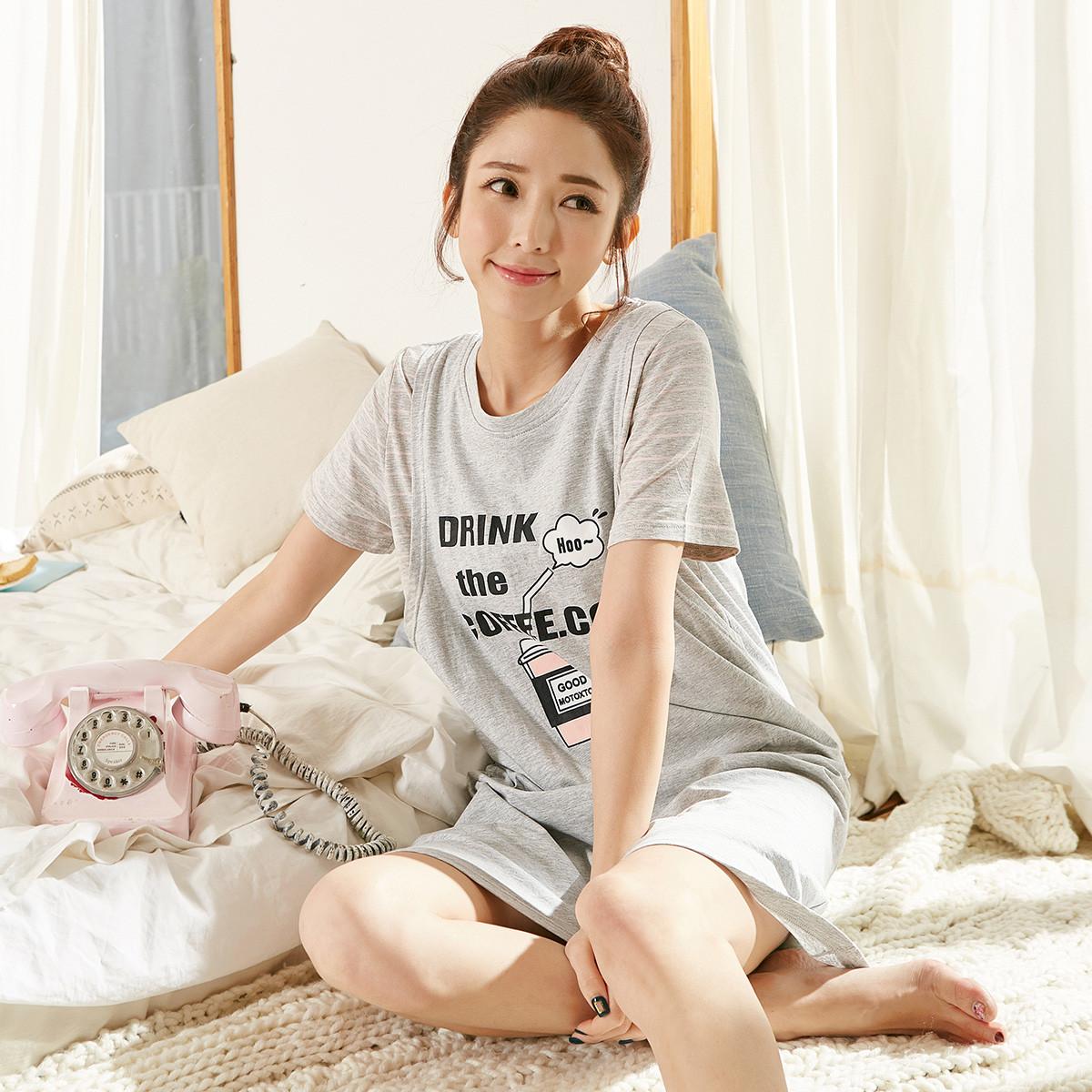 都市丽人旗下品牌自在时光女士睡衣夏季舒适简约家居服TK