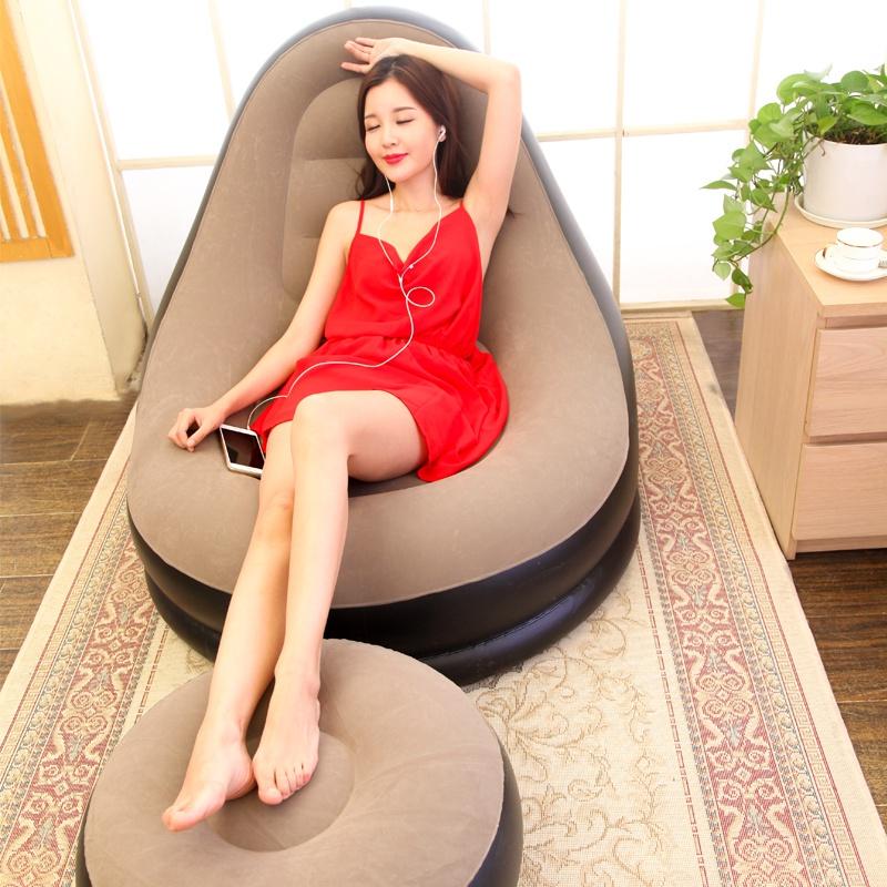 懒人沙发充气沙发单人沙发卧室小沙发简约榻榻米躺椅便携椅子图片