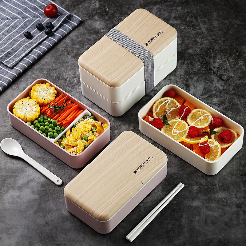 轻食饭盒便当日本ins风上班族日式健身减脂轻便可微波炉加热专用