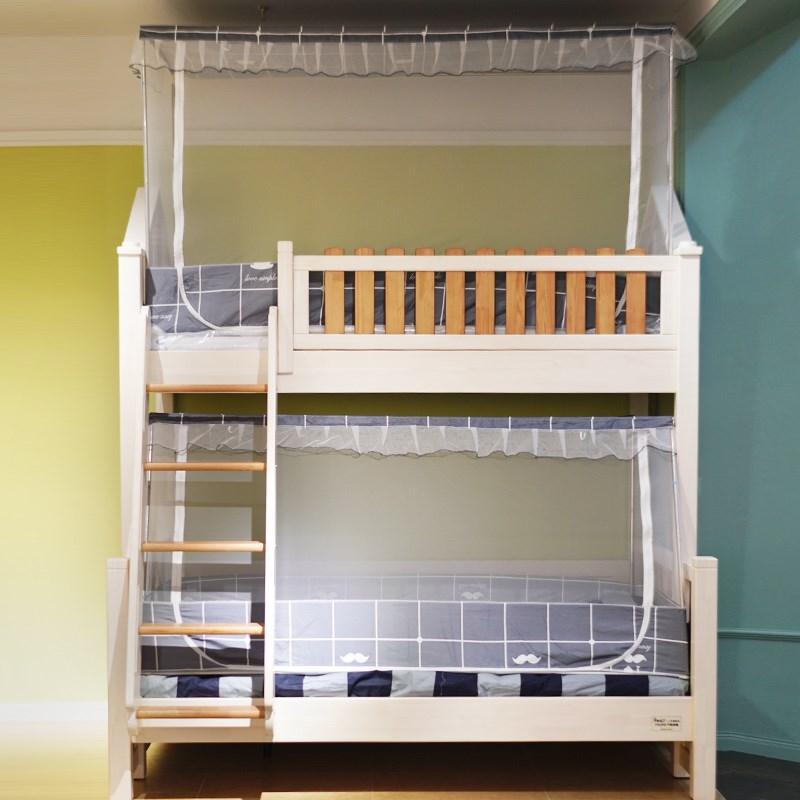 子母床蚊帐梯柜书架双层高低上下铺床帘上铺1.2米遮阳布下铺1.5米-蝶翼活力生活馆-2018-12-20