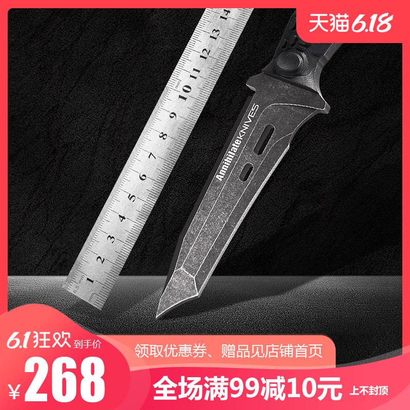 户外刀具军工直刀野外生存防身军刀高硬度锋利特种兵狩猎随身小刀