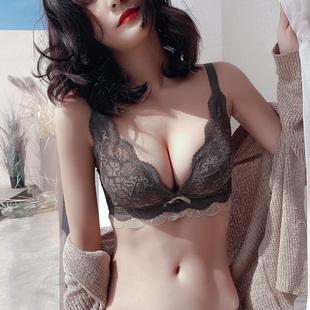 蕾丝内衣套装小胸衣聚拢收副乳上托无钢圈调整型性感惑文胸罩女士
