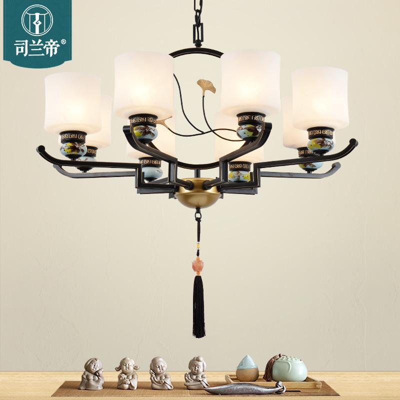 现代新中式吊灯客厅灯具中国风禅意餐厅灯简约家用书房灯卧室-司兰帝灯饰
