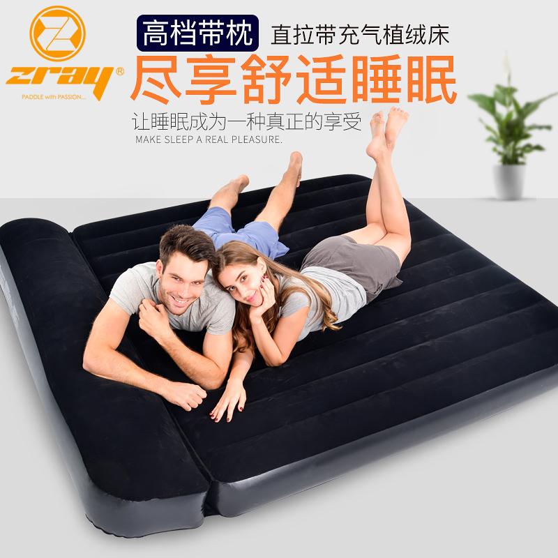 充气床双人家用加厚冲气懒人气垫床户外帐篷床垫 单人便携午休床