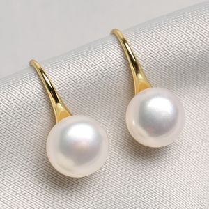 Natural freshwater real pearl earrings female 925 sterling silver jewelry 2019 new tide temperament high sense earrings earrings