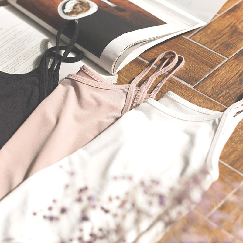 [¥14.9]吊带背心女夏外穿内搭纯棉打底衫黑色无袖t恤百搭短款韩版修身潮