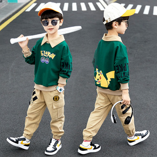 男童秋装套装4洋气5中大童6韩版7到十周岁男孩春秋季帅气衣服装潮图片