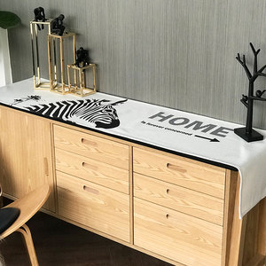 Nordic coffee table dining table cloth table flag waterproof shoe cabinet cover towel cotton linen rectangular TV cabinet cover simple and modern