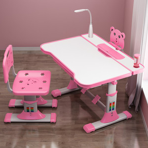 Children's desk study table baby home elementary school students writing desk and chair set boys and girls homework desk can be raised and lowered