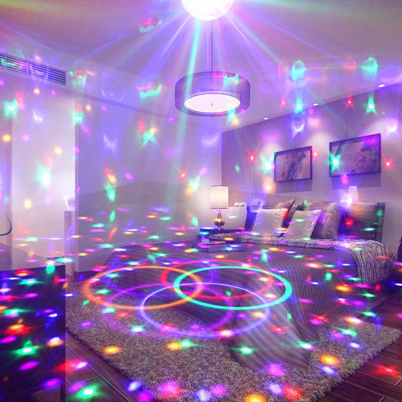 led彩灯七彩变色闪灯串灯满天星卧室直播房间背景布置音乐装饰灯