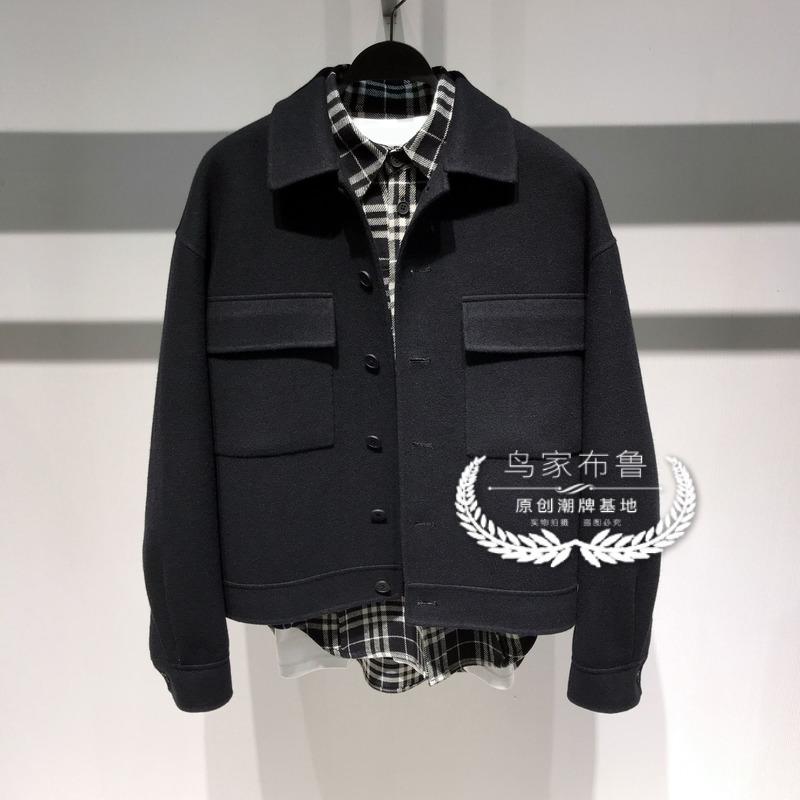 鸟家原创男装冬季工装风口袋落肩夹克时尚毛呢夹克外套B2BC94463