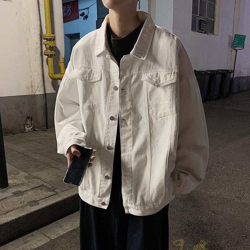 牛仔外套男2020年春秋季港风ins宽松百搭上衣男韩版潮流休闲夹克