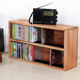 巨阳CD架桌面CD唱片收纳架HIFI磁带盒老唱片收藏箱PS4游戏光盘架