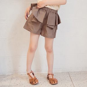 GUGUMINI children's clothing girls imported from Japan high quality cotton ruffle design Japanese style summer shorts