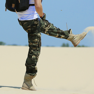 Outdoor clothing men's camouflage overalls multi-pocket wear-resistant expansion pants hiking casual pants army fan clothing