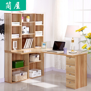 Residential furniture home desktop corner computer desk desk bookcase bookshelf writing desk combination furniture desk