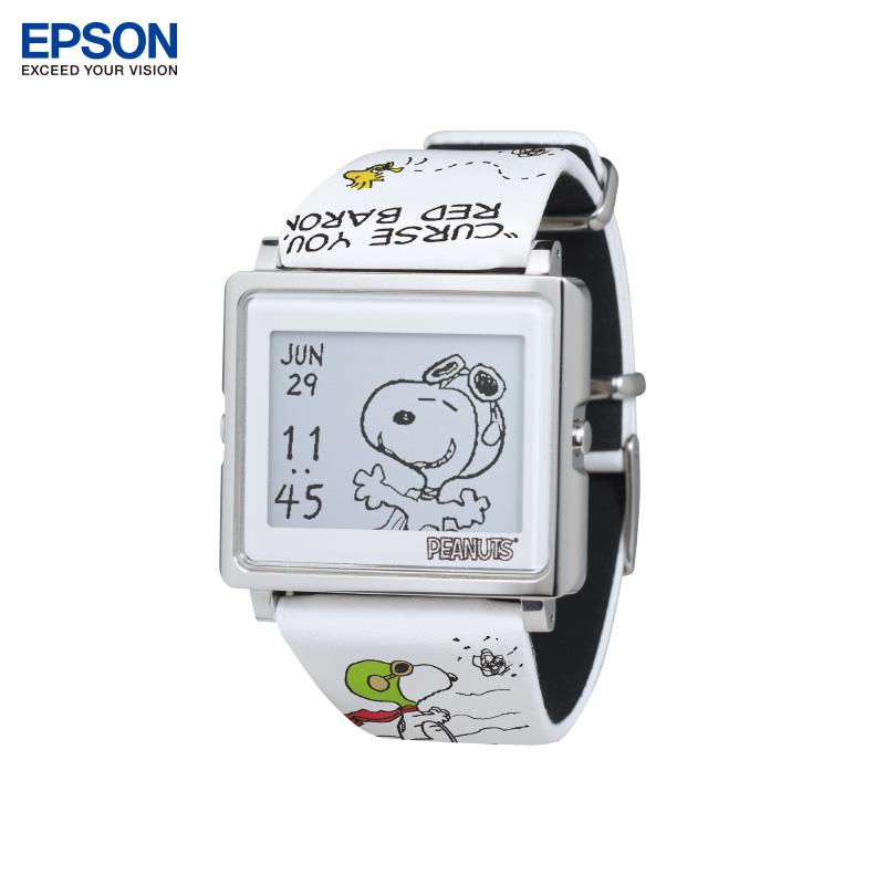 EPSON爱普生手表SmartCanvas史努比王牌飞行员可爱手表