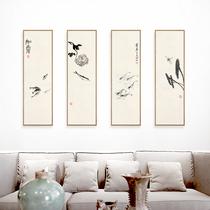 中式客厅装饰画办公室挂画【十年老店】张大千国画山水画春山暮雪