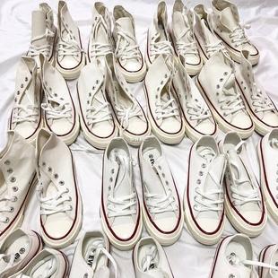 许刘芒 2018春季ulzzang小白鞋白色帆布鞋韩版百搭chic女学生街拍图片