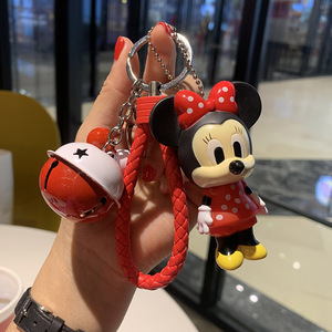 Creative female doll mouse car key ring cufflinks couple male bag ornaments bell accessories gift auspicious rat
