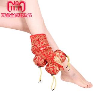 祝浩康 三联罐绸缎不锈钢足疗艾灸鞋 脚底温炙足疗盒