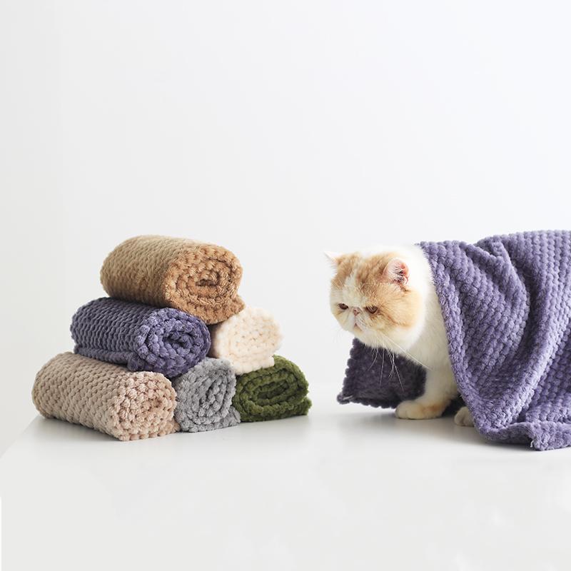 宠物猫毛毯猫毯子猫垫子猫被子猫窝秋冬保暖不粘毛猫用小毛毯加厚