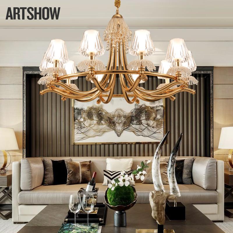 欧式别墅简约奢华吊灯新古典个性后现代大厅房间餐厅卧室客厅灯-昂秀灯饰
