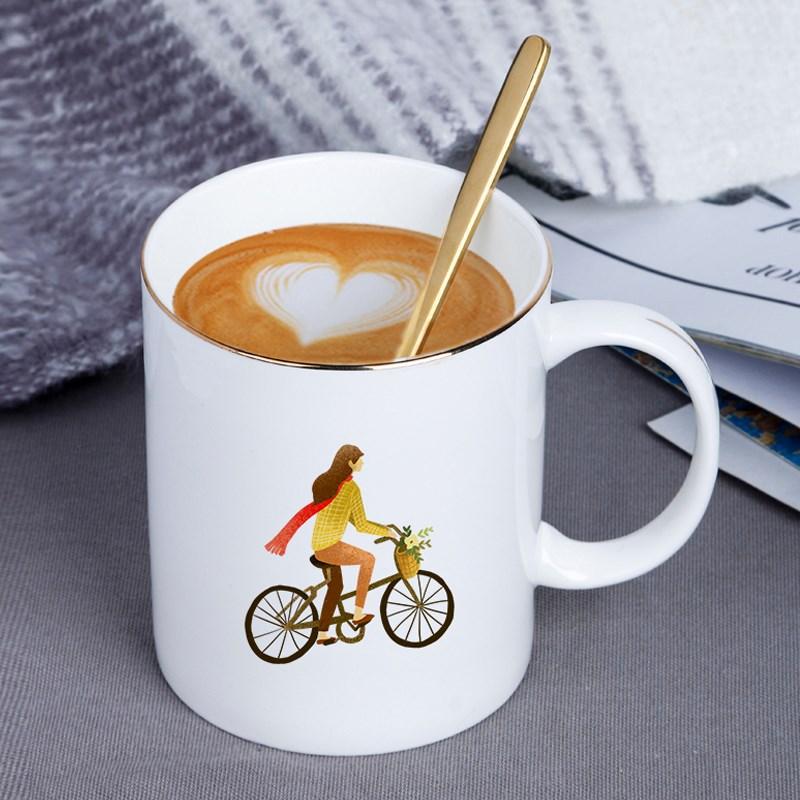 KUYIN马克杯定做logo照片DIY订制骨瓷礼品杯印定制个性二维码文字