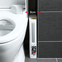 日本AISEN窄缝垃圾桶马桶刷in12装极窄er生间超窄厕所纸篓