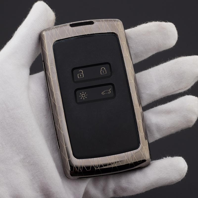 2018东风雷诺科雷傲钥匙包17款科雷嘉汽车钥匙套扣工艺金属保护套