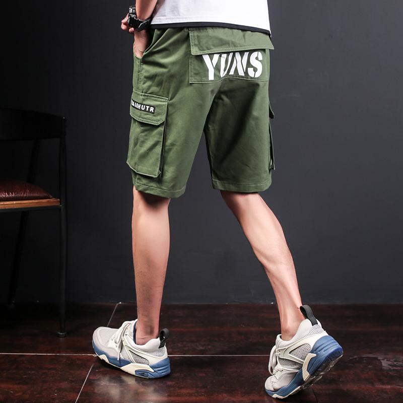 运动夏季休闲短裤男士五分裤夏天韩版潮流大裤衩中裤宽松沙滩裤男
