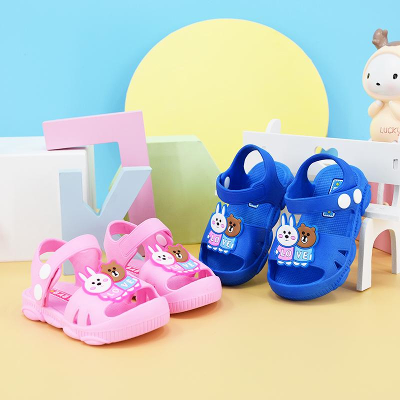 春夏季儿童可爱卡通学步凉鞋男小童女宝宝婴儿幼儿软底鞋子1-2岁3