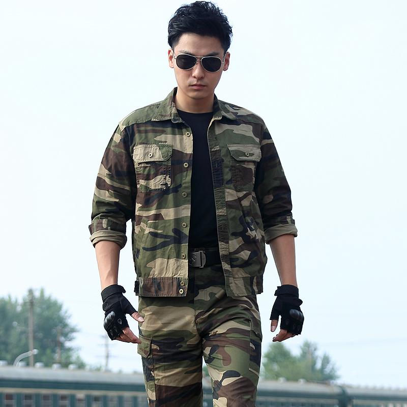 正品纯棉迷彩服套装男夏季特种兵野战作训军迷军装户外耐磨工作服