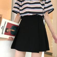 微胖女8a0穿搭大码nv合胖的的裙子洋气胖妹妹mm高腰a字短裙
