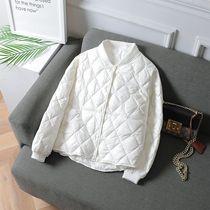 轻薄羽绒棉服女短款2021秋冬季新款韩版薄款宽松棒球服显瘦外套潮