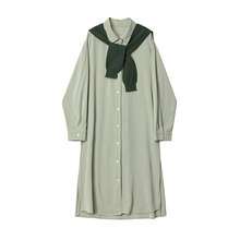 Designqp3r Plxx衫连衣裙套装女宽松显瘦中长式外搭披肩两件套秋