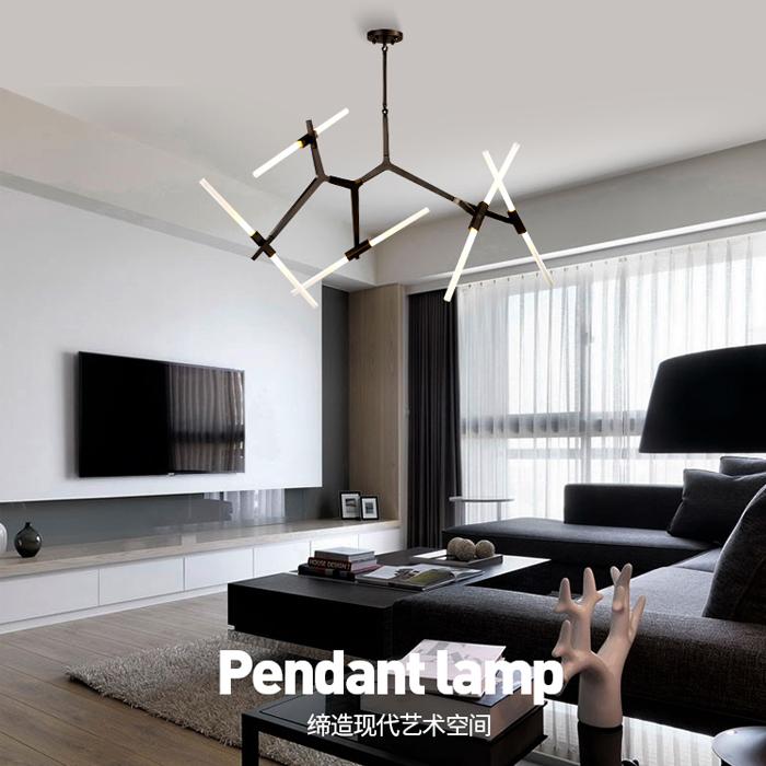 设计师后现代北欧简约艺术创意客厅餐厅别墅创意个性人字树枝吊灯-菲凡灯具