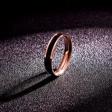 韩京日韩时尚气质钛钢镀玫瑰金情侣si13指戒指ai尾戒手饰品
