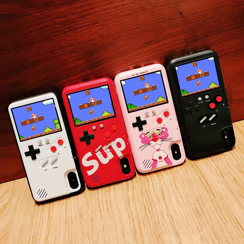 苹果x游戏机手机壳苹果11maxpro彩屏11pro减压iphone11软iphonex潮xsmax网红女款8plus情侣xr全包7创意6s男套