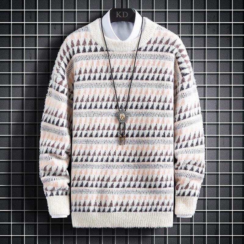 2020秋季新款网格挂拍插色条纹百搭针织衫毛衣 A436-1-1936-P55