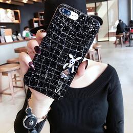 时尚闪粉iphone7plus手机壳苹果8X个性创意软壳6s挂绳女款6P潮牌