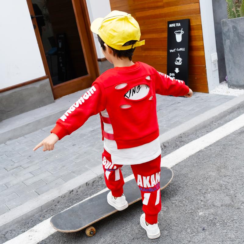 童装男童春装卫衣套装2019新款儿童春季韩版两件套帅气宝宝洋气潮