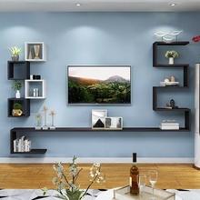 简约客厅电视机柜wa5饰架墙上an格柜无异味多层收纳架