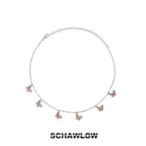 【SCHAWLOW肖洛】蝴蝶项链女原创轻奢小众品牌设计感镶锆锁骨链