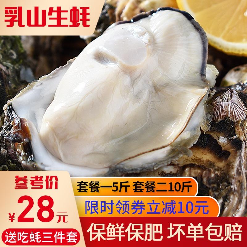 乳山生蚝鲜活10斤特大新鲜一箱 牡蛎5斤装带壳肉肥即食生吃海蛎子
