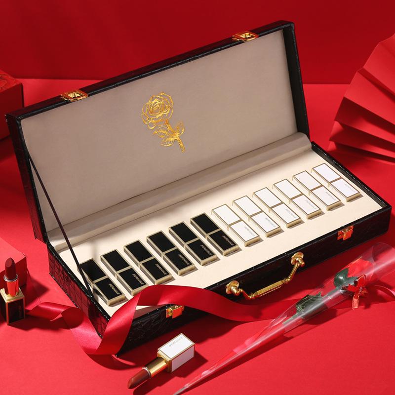 口红 学生 平价 一整套 组合装 礼盒 生日 礼物 黑管