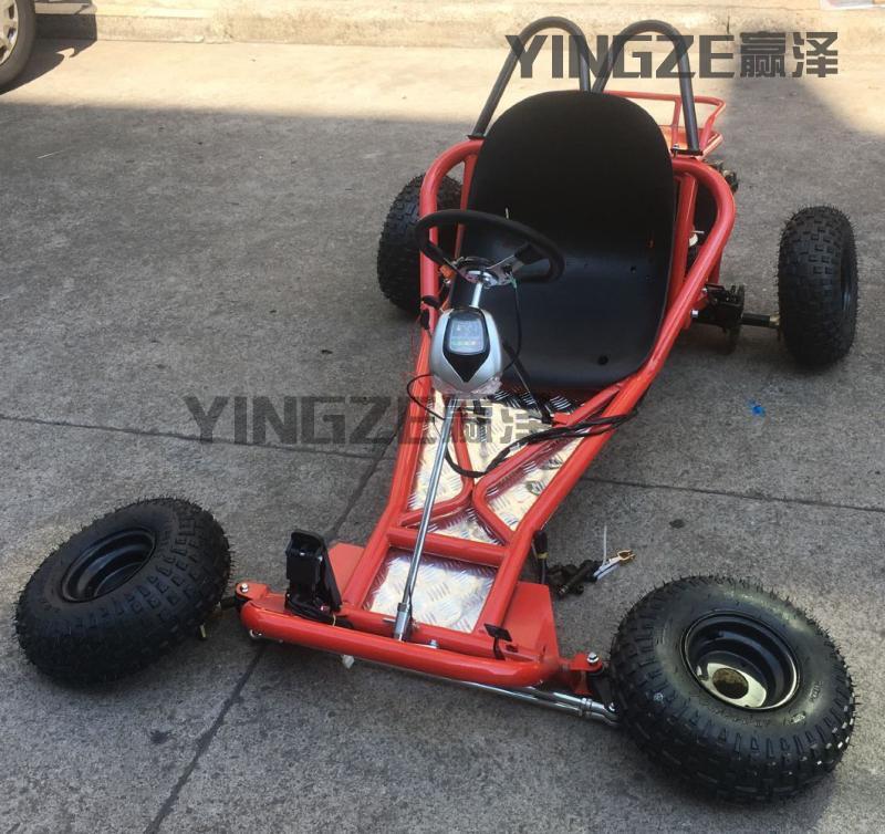 自制四轮电动卡丁车配件全套车架车身差速轴传动后桥转向电机轮胎
