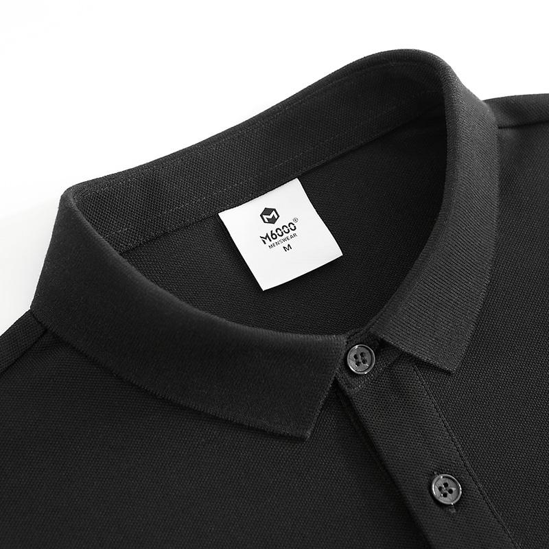 polo衫男翻领短袖T恤ins夏装新款纯黑色韩版潮牌修身带领半袖保罗