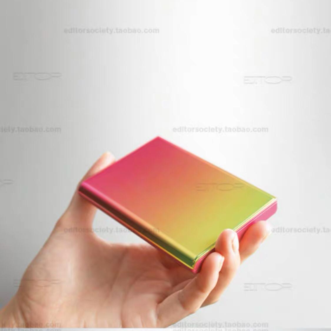 EDITOR01日本Ornament小众设计时尚渐变色名片盒男女礼物现货