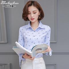 衬衣女长袖秋装新款韩版百搭休闲衬衫
